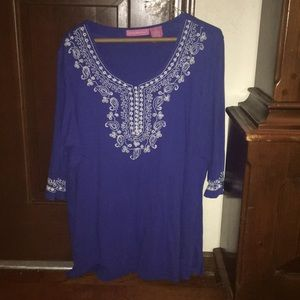 Woman Within 1x Blue shirt